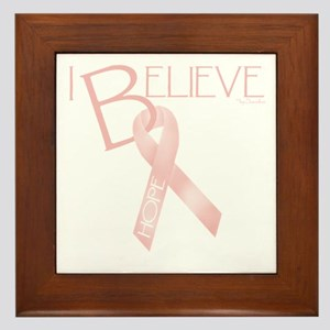 Peach Ribbon Framed Tile