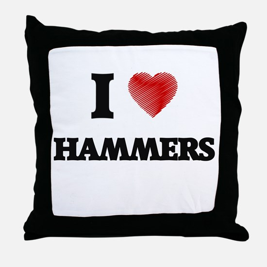 I love Hammers Throw Pillow