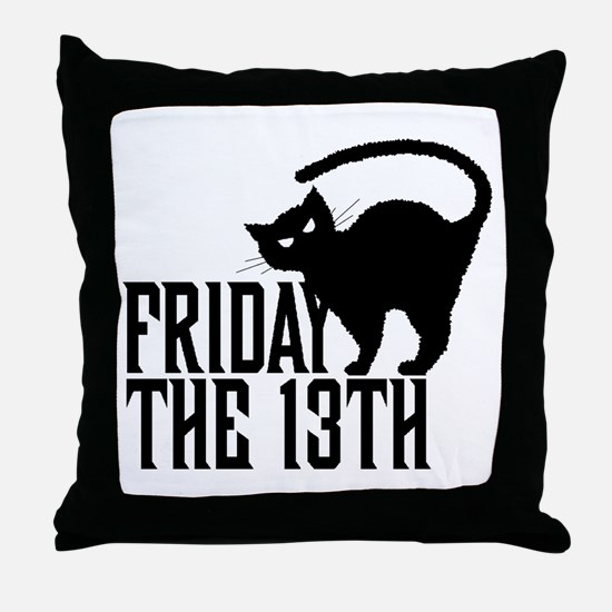 Friday 13th Throw Pillow