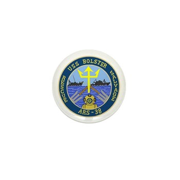 USS Bolster (ARS 38) Mini Button
