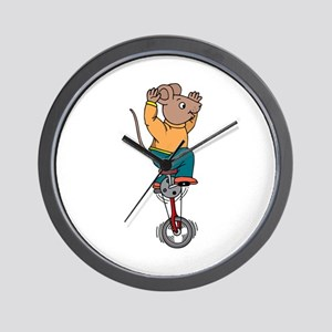 Mouse on Unicycle Wall Clock