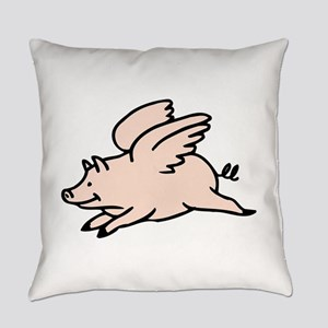 Pig Flying with wings Everyday Pillow