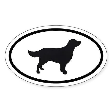 Golden Retriever Oval Sticker