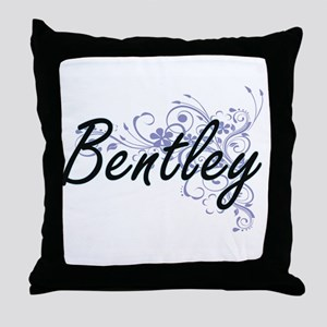 Bentley surname artistic design with Throw Pillow