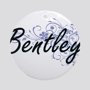 Bentley surname artistic design wit Round Ornament