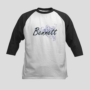 Bennett surname artistic design wi Baseball Jersey