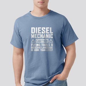 Diesel Mechanic Caution T-Shirt