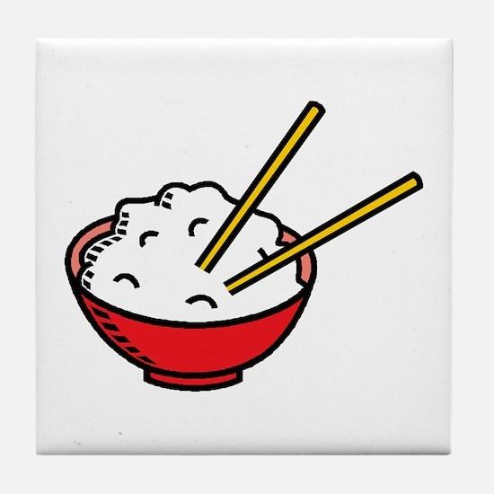 Bowl Of Rice Tile Coaster