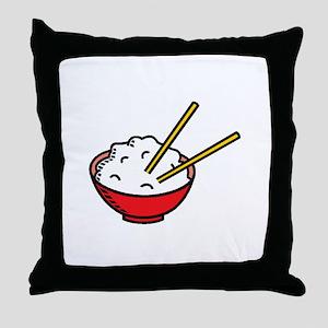 Bowl Of Rice Throw Pillow