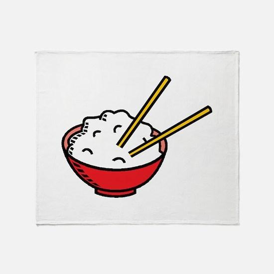 Bowl Of Rice Throw Blanket