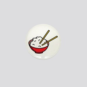 Bowl Of Rice Mini Button