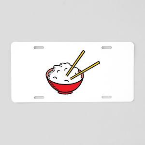 Bowl Of Rice Aluminum License Plate