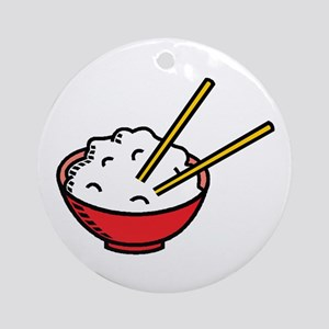 Bowl Of Rice Round Ornament