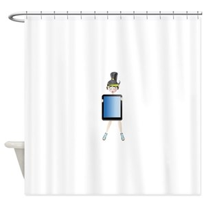 Ponytails Cartoon Girl Shower Curtains