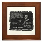 Foucault's Critique Framed Tile