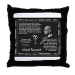 Foucault's Critique Throw Pillow