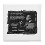 Foucault's Critique Tile Coaster