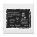 Foucault's Critique Tile Coaster