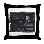 Foucault's Critique Throw Pillow