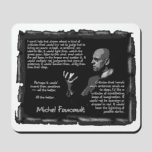 Foucault's Critique Mousepad