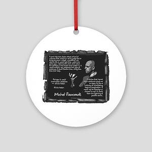 Foucault's Critique Ornament (Round)