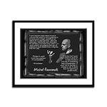 Foucault's Critique Framed Panel Print