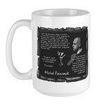 Foucault's Critique Large Mug