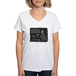 Foucault's Critique Women's V-Neck T-Shirt