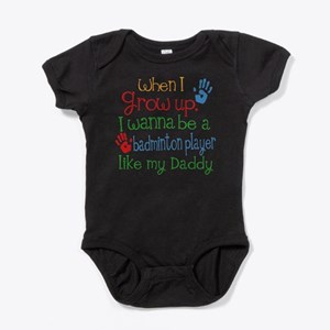 Badminton Player Like Daddy Baby Bodysuit