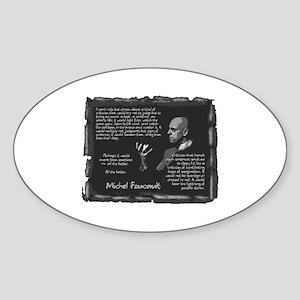 Foucault's Critique Oval Sticker