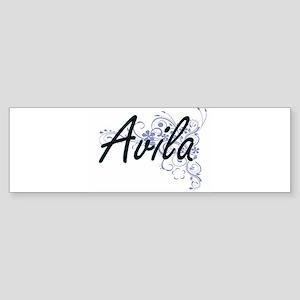 Avila surname artistic design with Bumper Sticker