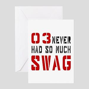 03 Swag Birthday Designs Greeting Card
