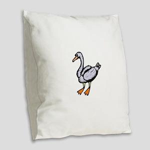 Goose Burlap Throw Pillow
