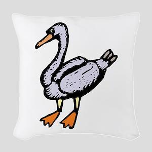 Goose Woven Throw Pillow