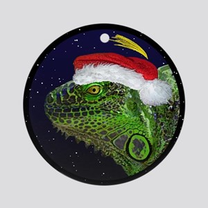 Christmas Night Iguana Christmas Ornament