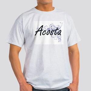 Acosta surname artistic design with Flower T-Shirt