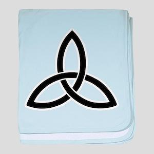 triquetra tribal tattoo viking symbol baby blanket