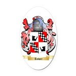 Rower Oval Car Magnet
