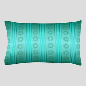 Minimalist Teal Pattern Pillow Case