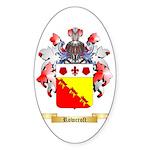 Rowcroft Sticker (Oval 50 pk)