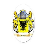 Rouze Oval Car Magnet