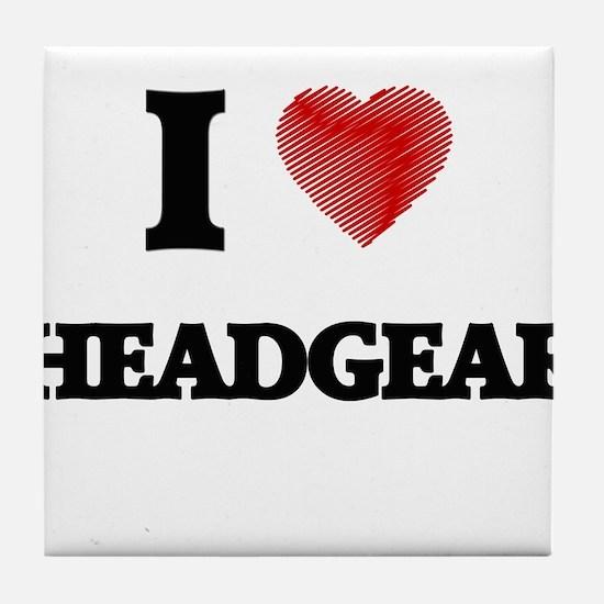 I love Headgear Tile Coaster