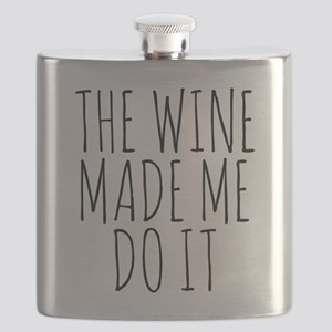 The Wine Made Me Do It Flask
