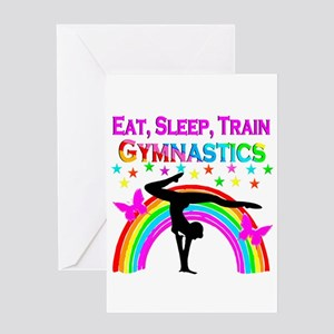GYMNAST GIRL Greeting Card
