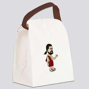 Comic Characters Toga Canvas Lunch Bag