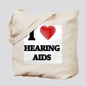 I love Hearing Aids Tote Bag