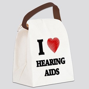 I love Hearing Aids Canvas Lunch Bag