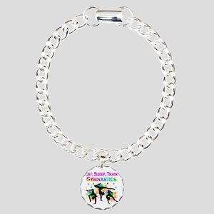 GYMNAST GIRL Charm Bracelet, One Charm
