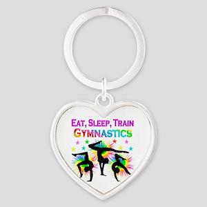 GYMNAST GIRL Heart Keychain