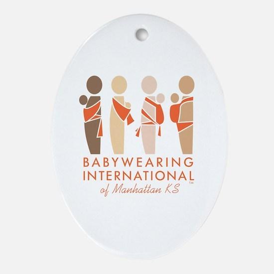 Cute Babywearing international Oval Ornament